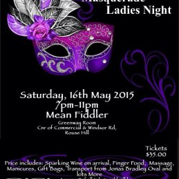 Ponds FC Ladies Night - 16th May 2015
