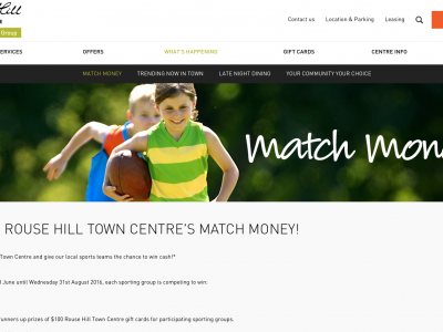 Rouse Hill Town Centre - Match Money Promotion
