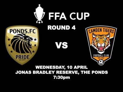 Ponds FC Premier League - Camden Tigers Football Club in our Round 4 FFA clash!