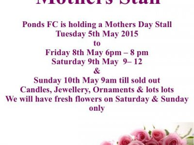 Ponds FC Mother Day Stall